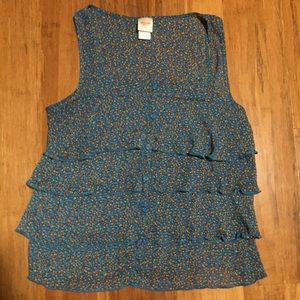 Mossimo Supply Co. Tiered Floral Tank Top